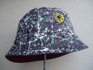 STONE ROSES CLASSIC HAND PAINTED LEMON PRINT BUCKET HAT
